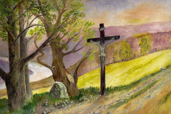 Frey Kreuz Zeichnung Permoser